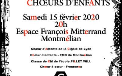 Concert Chœurs d'Enfants Montmélian
